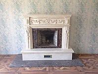 Мраморный портал из испанского мрамора Crema marfil