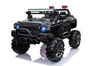Детский электромобиль джип T-7837 BLACK Bluetooth, черный