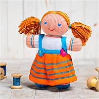 Вязаная кукла ФРЕЯ «Девочка»