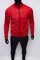 Костюм спортивный мужской Nike 8801-120 красный с черным утепленный в стиле бренда 2xl размер