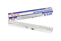 LED Светильник аварийный аккумуляторный DELUX REL-901 (2*3.7V2Ah) 90 LED 6W 480x68x38