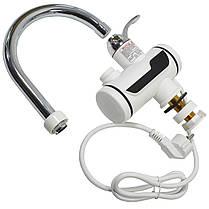 Кран-водонагреватель TEMMAX RX-001 электрический для горячей воды быстрый нагрев 3000 Вт с дисплеем, фото 3