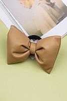 Резинка для волос Бант из эко-кожи (капучино)
