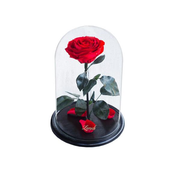 Роза в колбе с LED Большая красная №A78