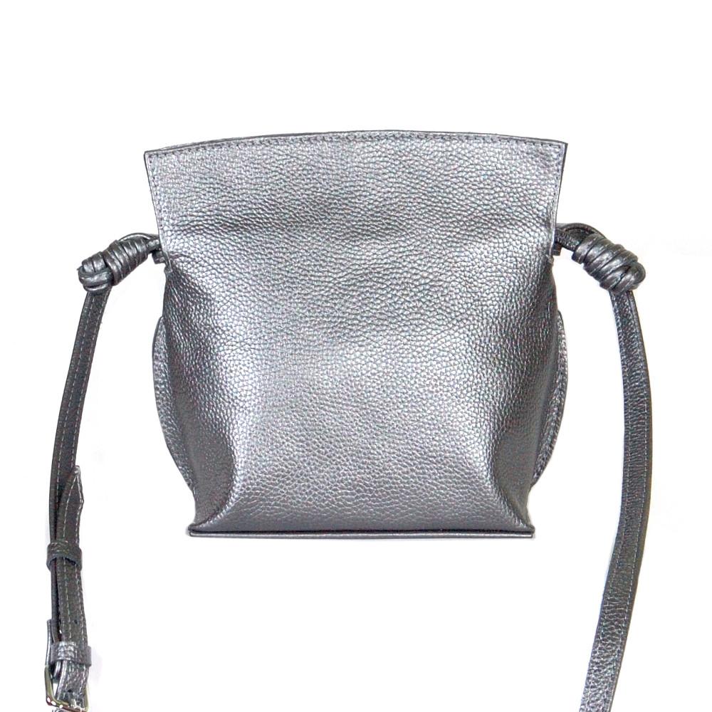 Женская кожаная сумочка-кроссбоди 50 никель флотар 01500112