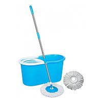 Турбо Швабра с Ведром Spin Mop 360 Голубая
