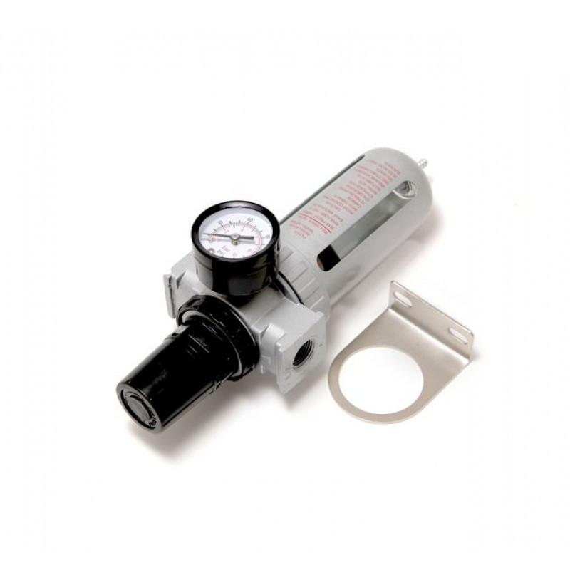 """Фильтр влагоотделитель c индикатором давления для пневмосистемы 3/8"""""""