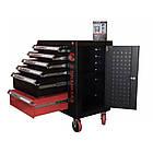 Тележка инструментальная  6-полочная с набором инструментов 154пр (черно-красная) и доп.секцией, фото 7