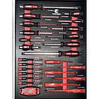 Тележка инструментальная  6-полочная с набором инструментов 154пр (черно-красная) и доп.секцией, фото 9
