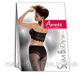 Колготи Slim Body 20 den, vizone,ТМ Annes, розмір:4