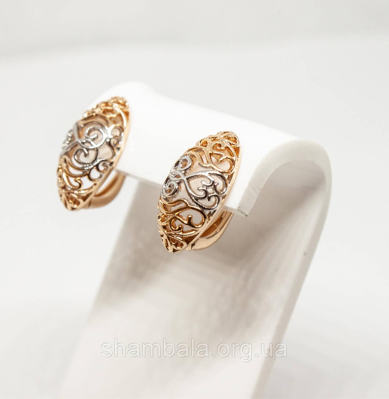 "Серьги Xuping Jewelry ""Romantic"" позолота (59365)"