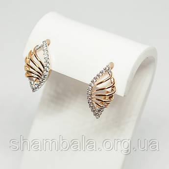 "Серьги Xuping Jewelry ""Golden wings"" позолота (74481)"
