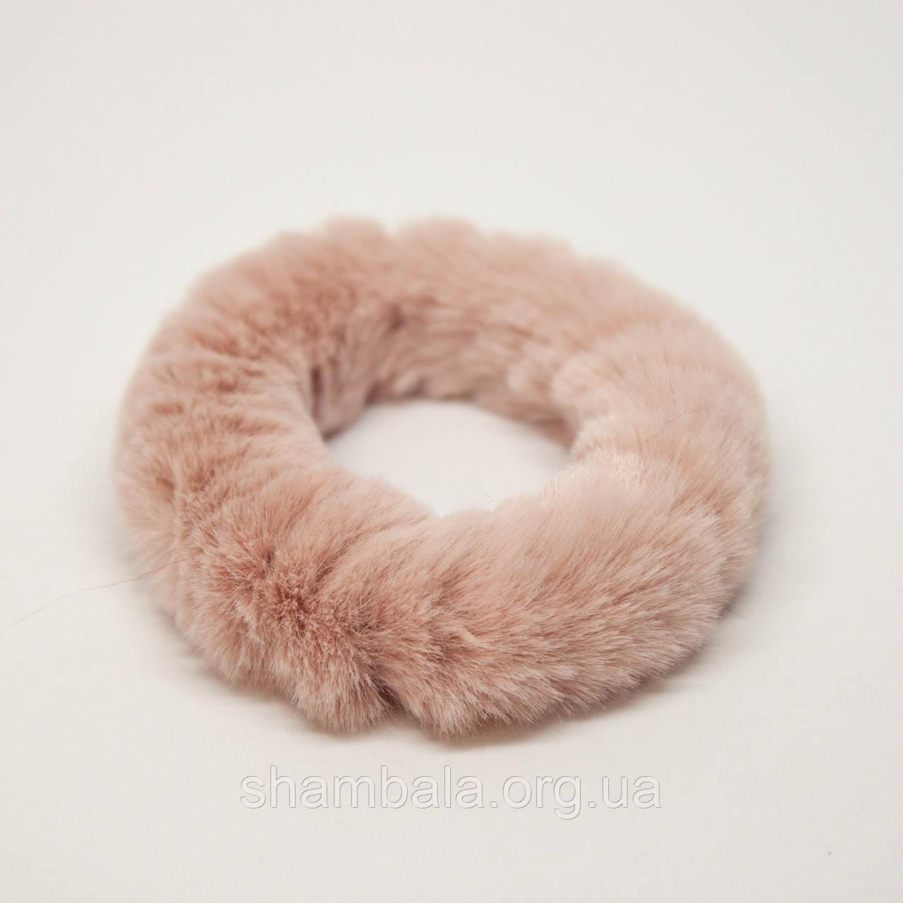 Меховая резинка для волос Xuping Jewelry розовая (65083)