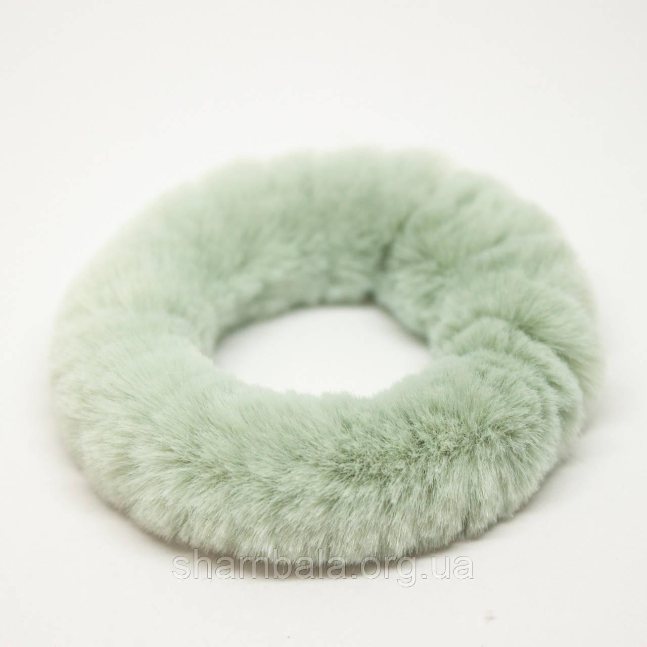 Меховая резинка для волос Xuping Jewelry мятная (65083)