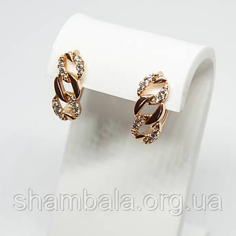 """Серьги Xuping Jewelry """"Chain"""" позолота (71428)"""