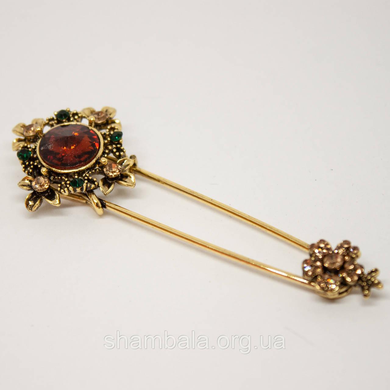 """Брошь Xuping Jewelry """"Драгоценность"""" золотая (71350)"""