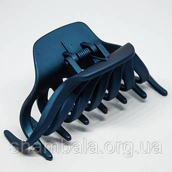 """Заколка-краб для волосся """"Крабик"""" синя (8684)"""