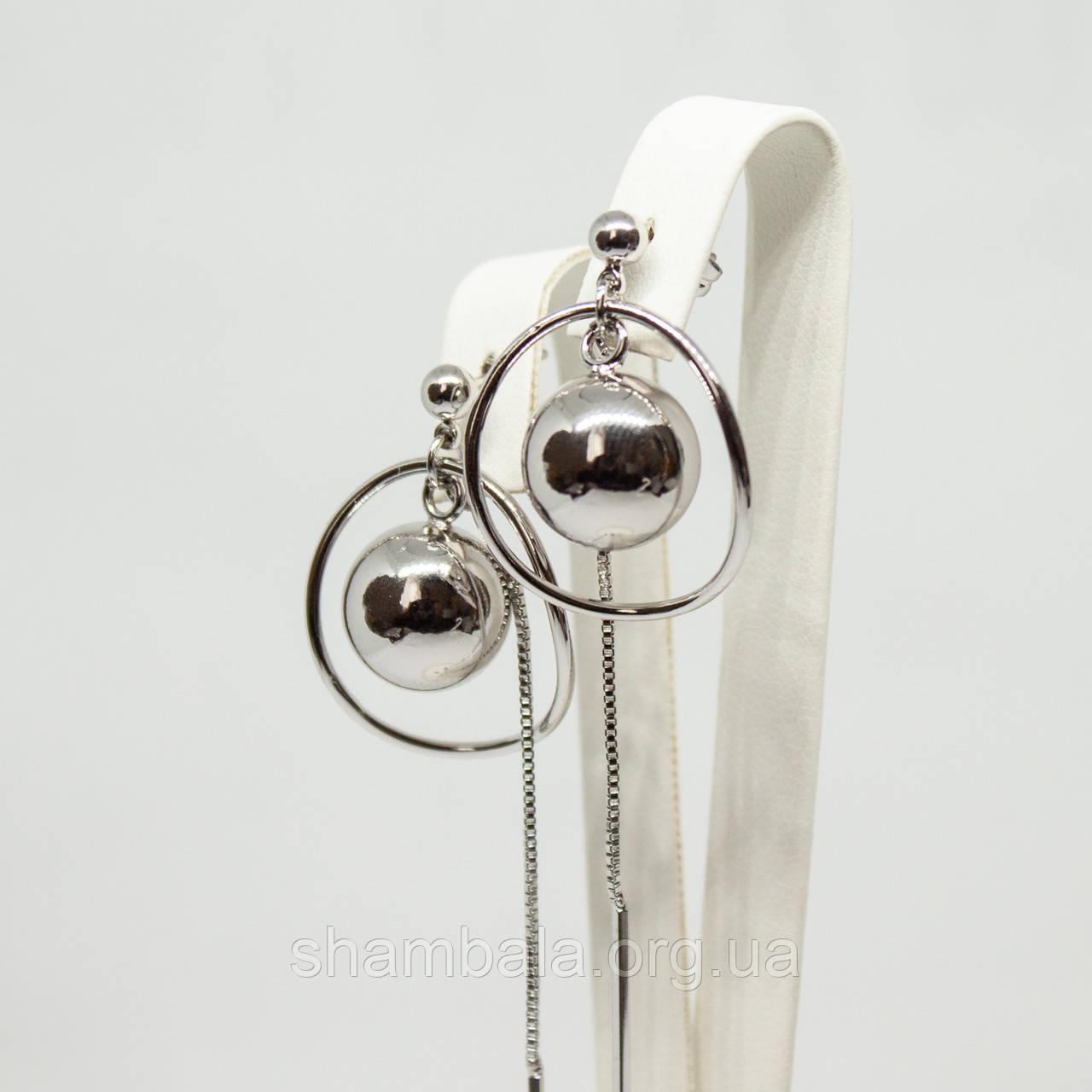 """Серьги Xuping Jewelry """"Long silver"""" серебро (74115)"""