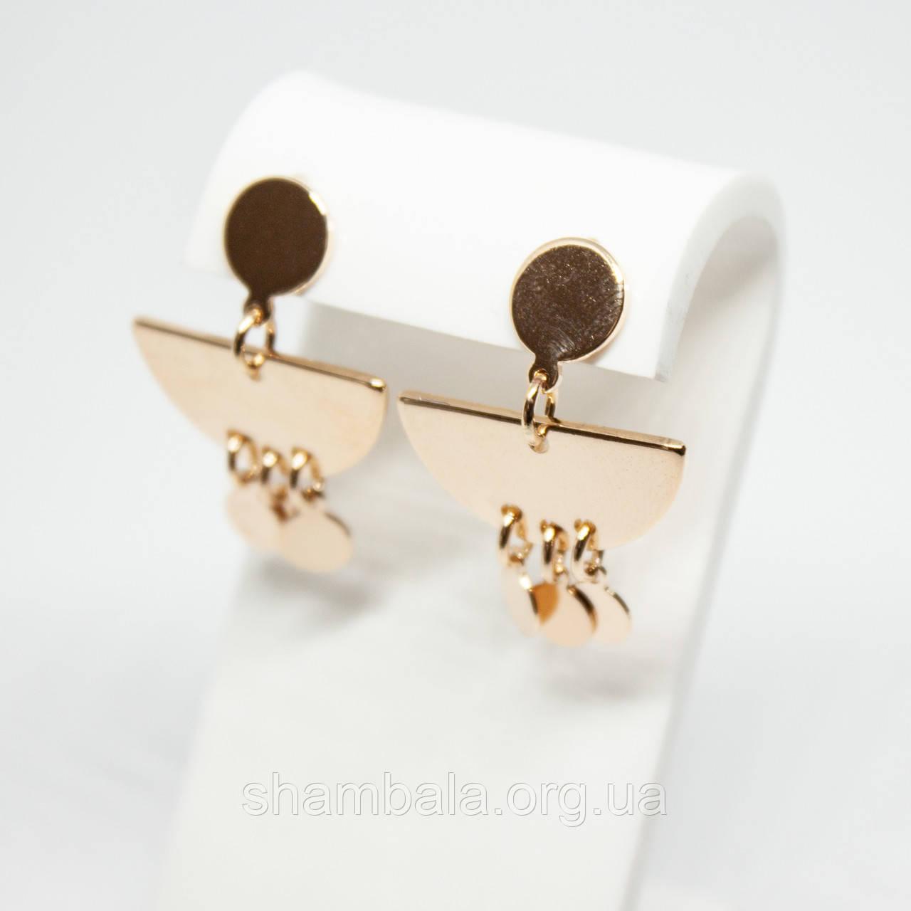 """Серьги Xuping Jewelry """"Egyptian"""" позолота (74535)"""