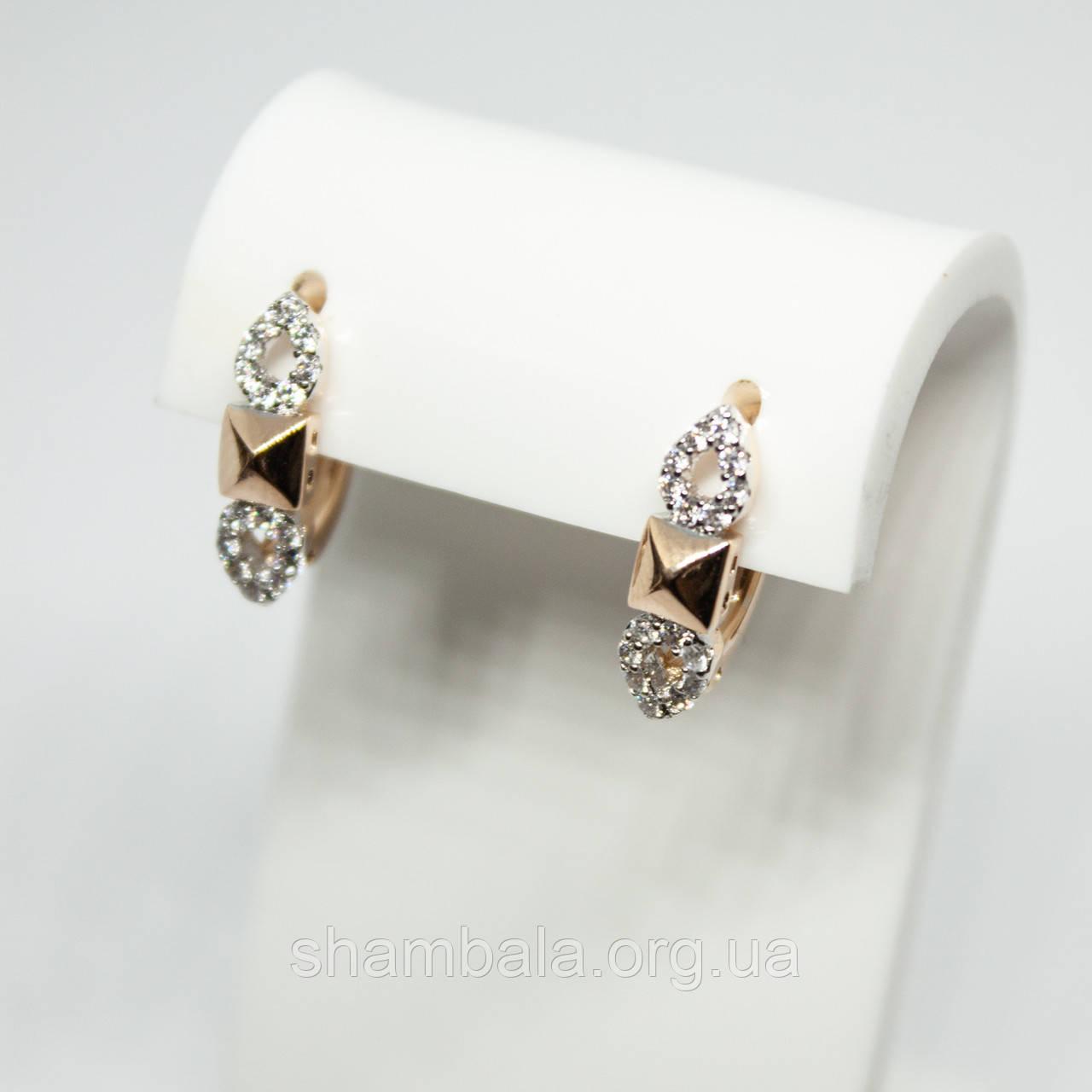 "Серьги Xuping Jewelry ""Diamond"" позолота (73309)"