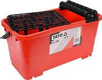 Ведро пластиковое (22 л) с валами и решеткой для плиточных работ YATO YT-54750 (Польша)