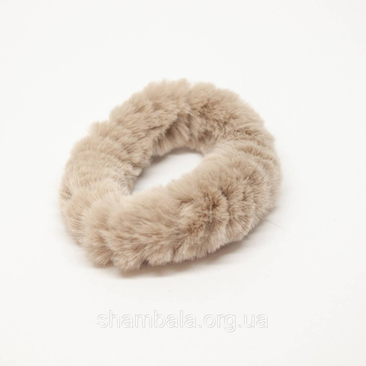 Меховая резинка для волос Xuping Jewelry коричневая (65083)