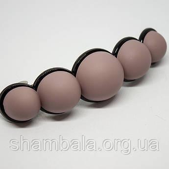 """Заколка-автомат """"Beads"""" розовая (076515)"""