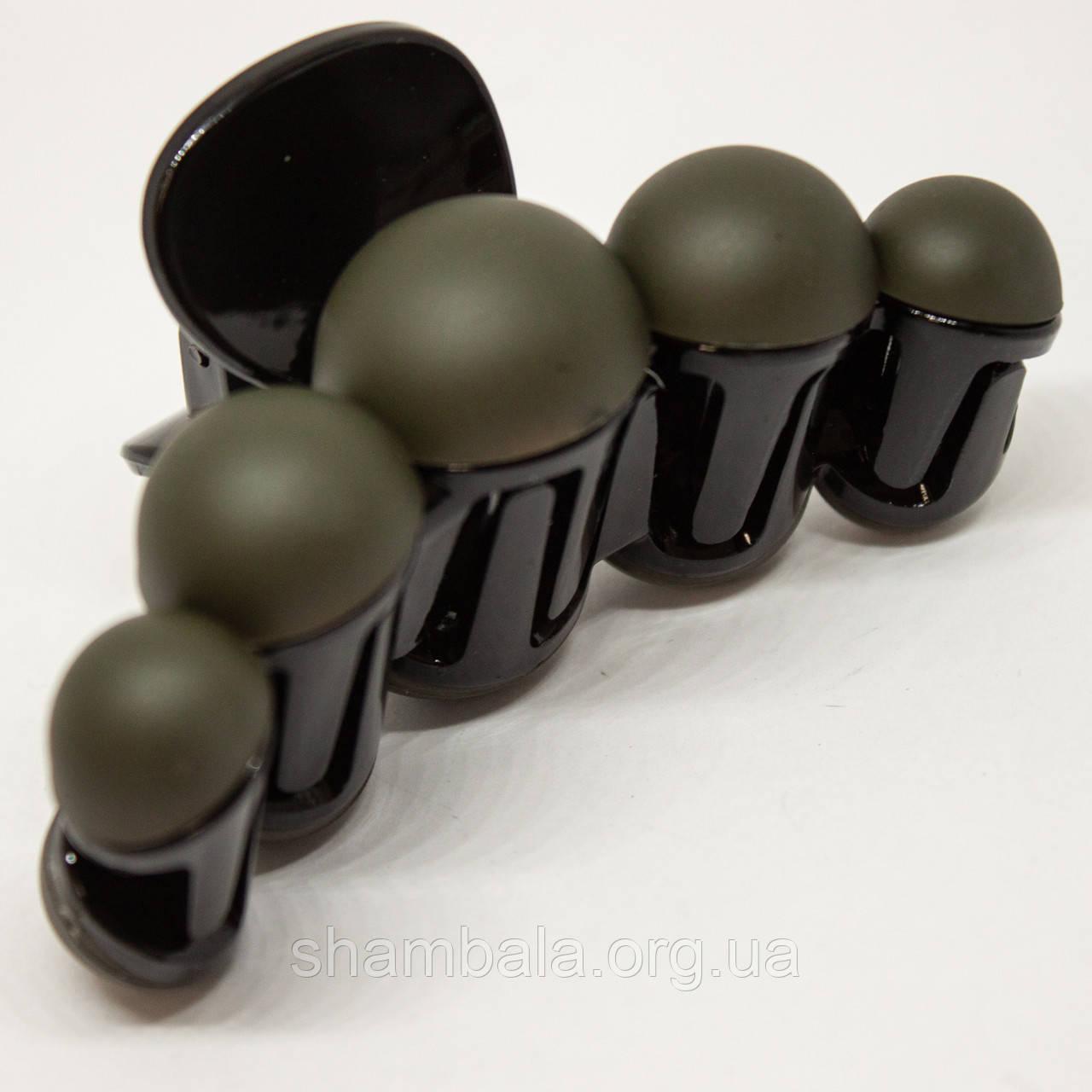 """Заколка-краб """"Bubble"""" зелена (76492)"""