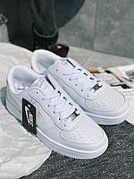 ТОР MODEL! Кроссовки белые Nike Air Force Кросівки Найк Аір Форс Білі
