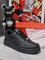 Кроссовки черные Nike Air Force Black, фото 1