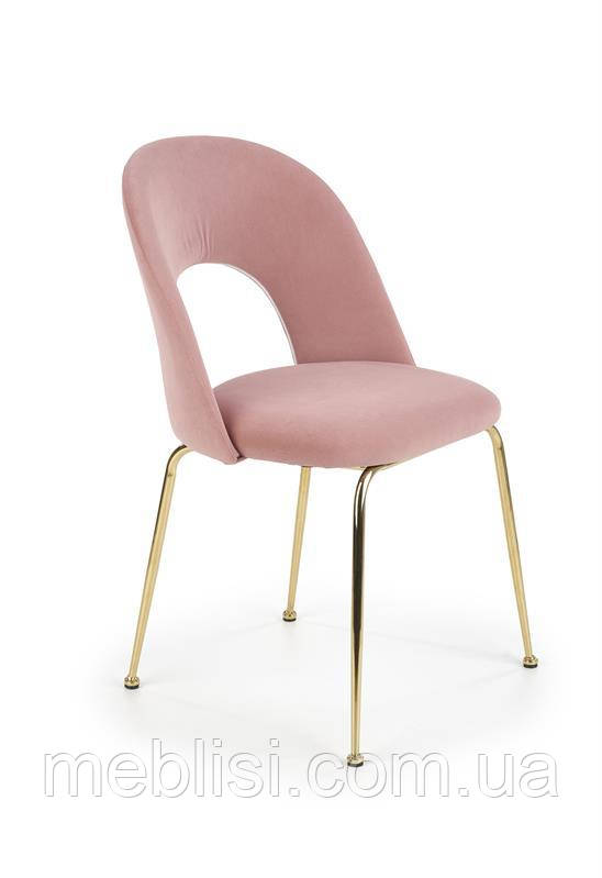 Стул K-385 светло розовый/золотой (Halmar)