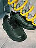 Кроссовки черные Nike Air Force Black  Найк Аир Форс Кросівки Найк Аір Форс