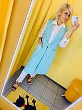 Жилет Жін. 36(р) блакитний 1209 Mode class Туреччина Весна