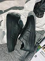 Кроссовки черные Nike Air Force Black  Найк Аир Форс Кросівки Найк Аір Форс, фото 1