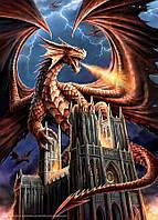 Деревянный пазл Ярость дракона на 1000 элементов