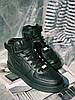 ТОР MODEL) Кроссовки черные Nike Air Force High Black Кросівки Найк Аір Форс Високі Чорні