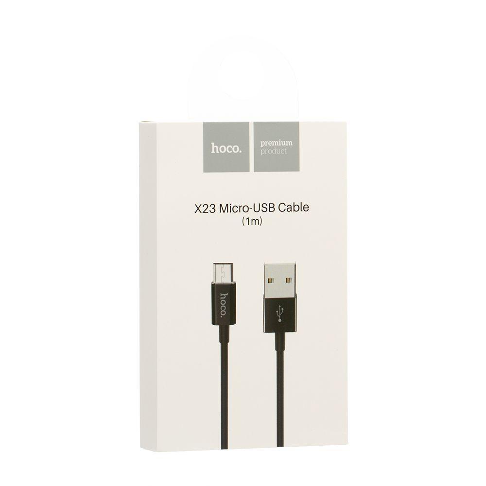 USB кабель Hoco X23 Skilled Micro (1м, черный)