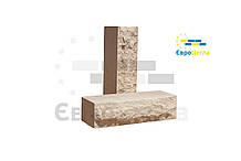 Кирпич ложковой скала 250х57х65мм (половинка)