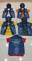 Футболки с джинсовыми жилетками и кепками для мальчиков 6-12 лет
