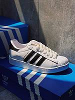 ТОР MODEL! Кроссовки черные Adidas Superstar Black / Адідас Суперстар Чорні, фото 1