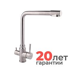 Смеситель для кухни с подключением фильтра Imperial 31-013-12 Нержавеющая сталь