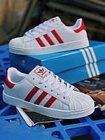 Кроссовки красные Adidas Superstar  Red, фото 1