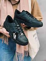 Кроссовки черные Nike Air Force Black  Найк Аир Форс, фото 1