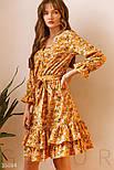 Літній квіткове плаття жовте, фото 3