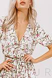 Цветочное платье длины миди белое, фото 5