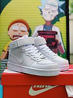 Кроссовки Nike Air Force High White, фото 1