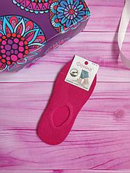 """Носки женские под кроссовки следы """"Фенна"""" размер 37-41, цвет малиновый"""