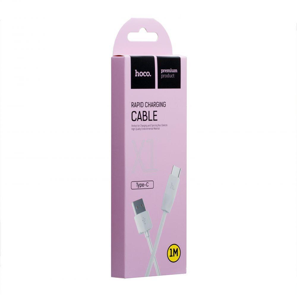 USB кабель Hoco X1 Rapid Type-C (1м, білий)