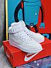 Кроссовки белые Nike Air Force High White Найк Аир Форс