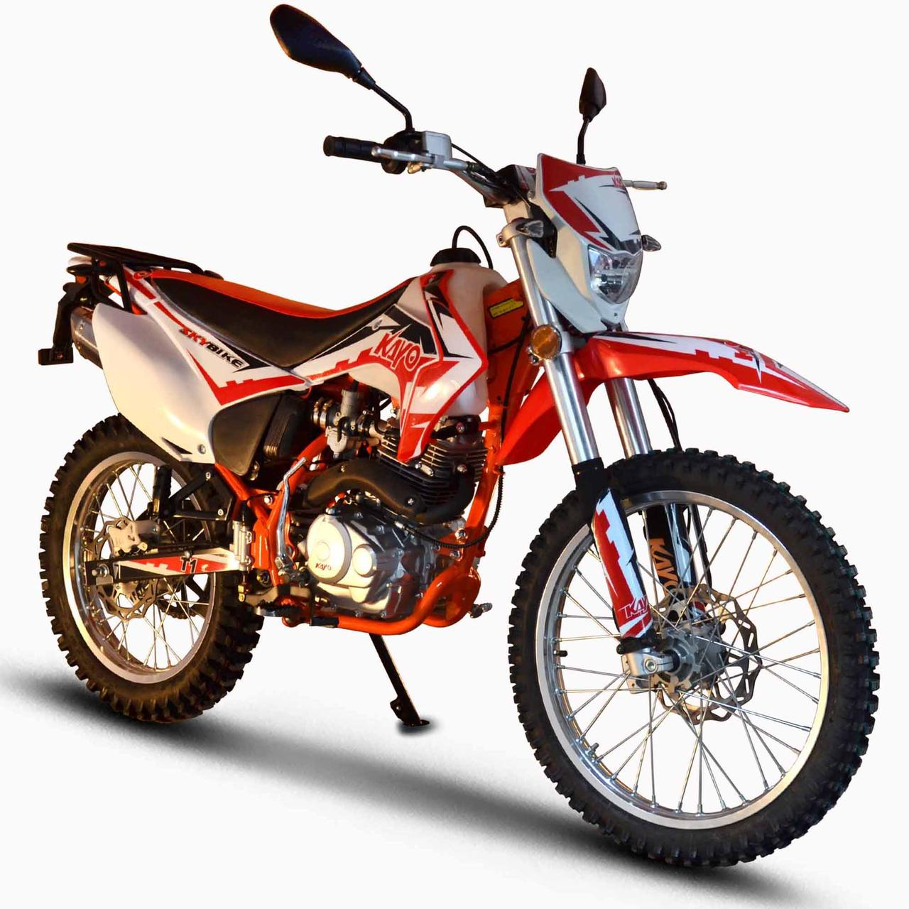 Мотоцикл Skybike KAYO T1-250 Бело-красный